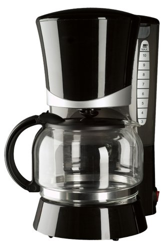 Continental Electric Black 10-Cup Coffee Maker
