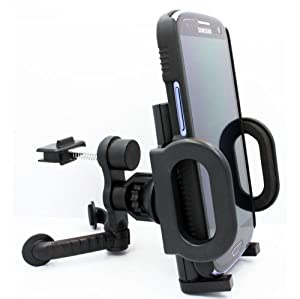 Xenda Universal Car Mount Vehicle AC Air Vent Cell Phone Holder for US Cellular Samsung GALAXY Note2 SCH-R950 - Verizon Samsung GALAXY Note 2 II SCH-I605