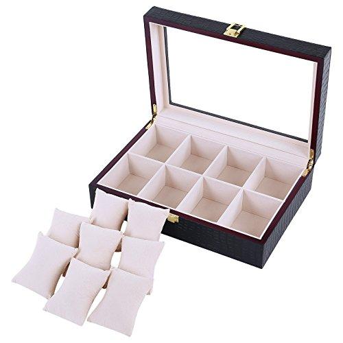 songmics-portaorologi-scatola-custodia-per-orologi-8-posti-nero-jwb08b