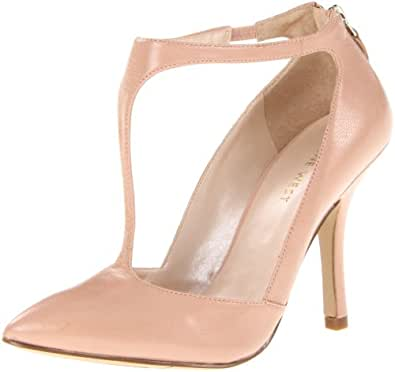 Nine West Women's Blonsky Pump,Light Pink Leather,5.5 M US