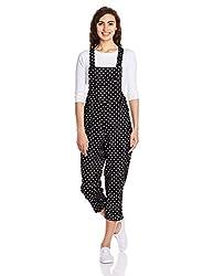 Elle Women's Cotton Coat (EEJS0022_Black_S)