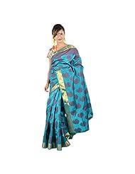 Kashish Tarquies Blue Silk Saree For Women