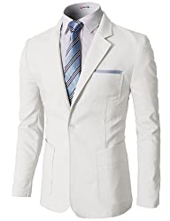 H2H Mens Pastel Color Slim Fit Blazer…