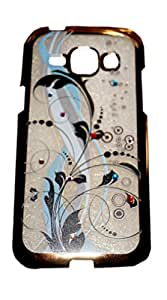 Expertdeal Golden border Soft Flexible TPU Diamond Printed Back Cover For Samsung Galaxy J1 Back Case Cover