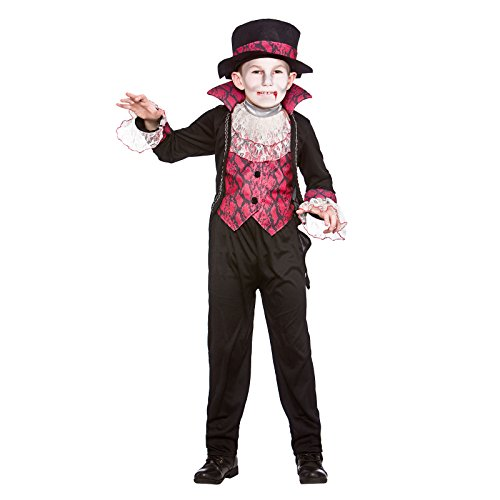 Boys Victorian Vampire Halloween Fancy Dress Costume