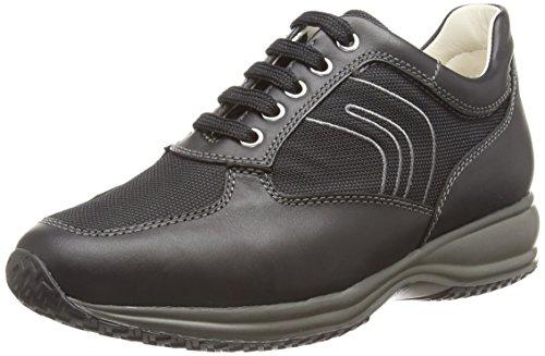 Geox - U Happy G - Pantofole a Stivaletto uomo, Black NRF, 44