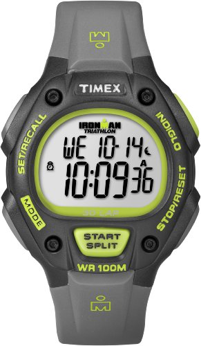 Timex Men's T5K6929J Ironman Traditional 30-Lap Full-Size Black Green Resin Strap Watch