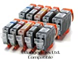 10 Compatible Printer Ink Cartridges for Canon Pixma iP4000