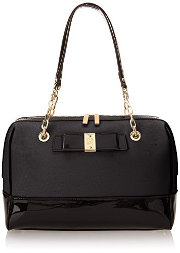 Anne Klein New Romantic Duffle Top Handle Bag, Black, One Size
