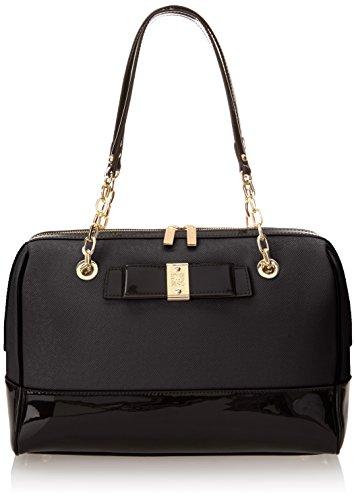 Anne Klein New Romantic Duffle Top Handle Bag, Black, One Size