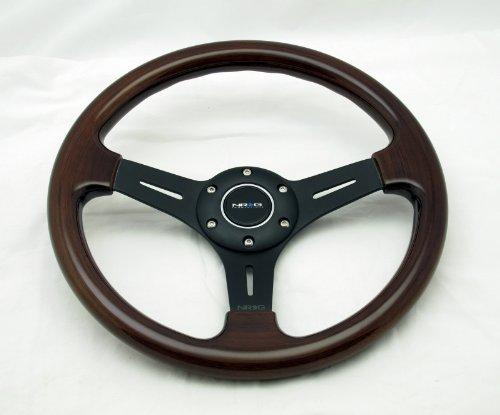 Nrg Steering Wheel Classic Wood Grain With Black Spokes 330Mm - Part # St-015-1Bk
