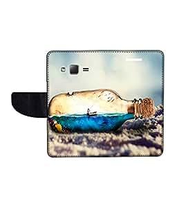KolorEdge Printed Flip Cover For Samsung Galaxy Z1 Multicolor - (43KeMLogo11894SamZ1)