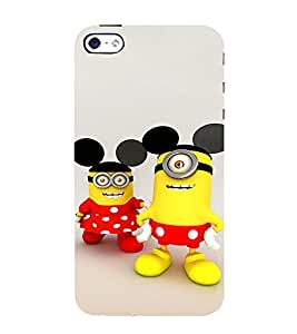 EPICCASE Minion with Mickey Ears Mobile Back Case Cover For Apple iPhone 5s (Designer Case)