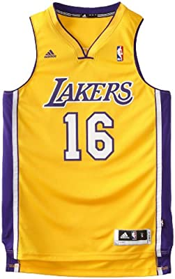 NBA Los Angeles Lakers Pau Gasol Swingman Jersey, Gold, X-Large