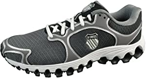 K-Swiss Men's Tube 100 Dustem Running Shoe,Charcoal/Black Fade,11 M US
