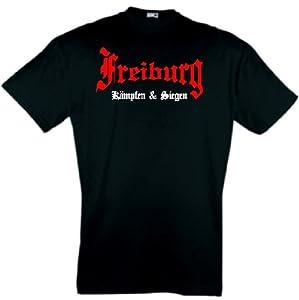 world-of-shirt Herren T-Shirt Freiburg kämpfen und siegen