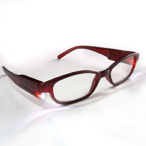 Hand Free Lighting Night Book Lighted Up Led Readers Reading Glasses +3.00 Full Frame + Batteries