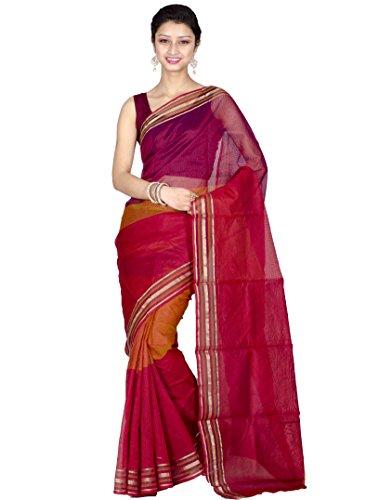 Chandrakala Cotton & Silk Banarasi Saree (7766 _Maroon)
