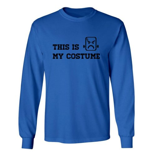 Festive Threads Big Boys' Is My Costume (Frankenstein) Kids Long Sleeve T-Shirt