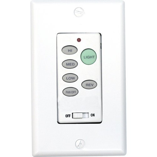 Progress Lighting P2631-30 Full-Function Wall Control Transmitter, White