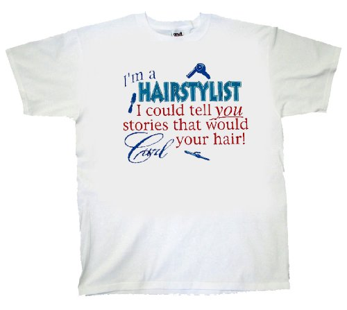 Hairstylist T-Shirt Stories Could Curl Hair-Large