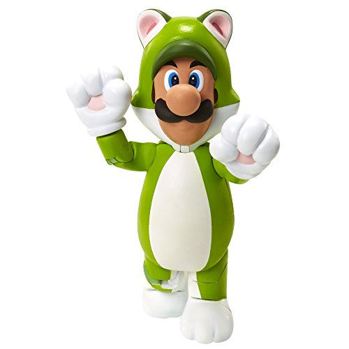 "World of Nintendo 91448 4"" Cat Luigi Action Figure"