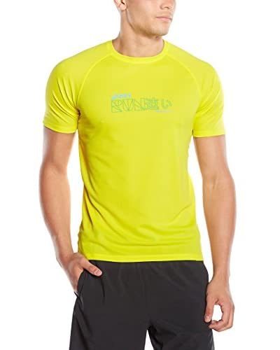 Asics T-Shirt Graphic gelb