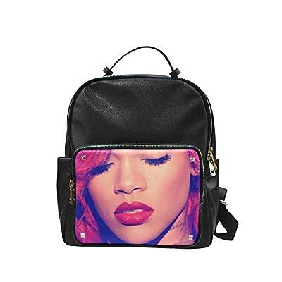 DOROT Famous Female Singer Rihanna Logo Unisex Leisure Backpack School Leisure Shoulder Bag
