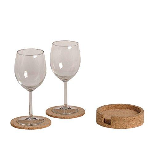 Renoir - 6 Coasters avec récipient solide Cork