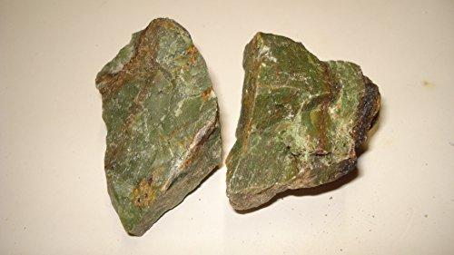 (#5) 2Pc Chrysoprase From Madagascar Large - Raw Rough 100% Natural Crystal Gemstone Specimen