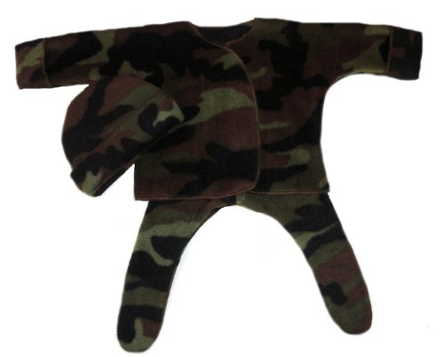 Camouflage Fleece Baby Clothing Set (Newborn