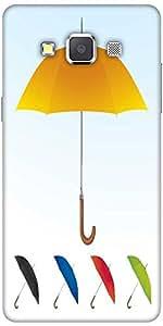Snoogg Umbrellas Vector F Designer Protective Back Case Cover For Samsung Gal...