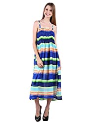 Selfiwear SW-522 Multicoloured Beautiful Dress