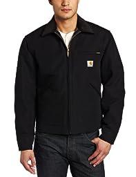 Carhartt Men\'s Weathered Duck Detroit Jacket J001,Black,Medium