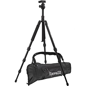 "Ravelli Professional 65"" Ball Head Camera Video Photo Tripod With Quick Release Plate And Carry Bag"