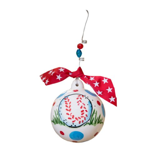 Glory Haus Play Ball Ornament, 4 by 4-Inch