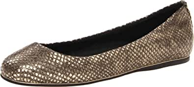 Dolce Vita Women's Bex Ballet Flat,Gold Embossed Leather,7 M US