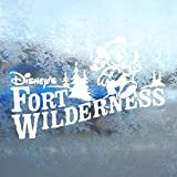 FORT WILDERNESS White Decal DISNEY MICKEY Window White Sticker
