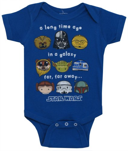 Star Wars A Long Time Ago Movie Mighty Fine Baby Creeper Romper Snapsuit