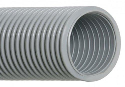 "Hi-Tech Duravent Vac-U-Lok Series Eva Vacuum Duct Hose, Grey, 1-1/2"" Id, 1.9000"" Od, 50' Length front-444656"