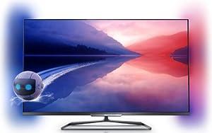 Philips 47PFL6008K/12 119 cm (47 Zoll) Ambilight 3D-LED-Backlight-Fernseher, EEK A++ (Full HD, 500Hz PMR, DVB-T/C/S2, CI+, Smart TV, WiFi) dunkles silber