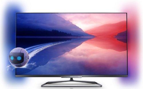 Philips 47PFL6008K/12 119 cm (47 Zoll) Ambilight 3D-LED-Backlight-Fernseher, EEK A+ (Full HD, 500Hz PMR, DVB-T/C/S2, CI+, WLAN, Smart TV, HbbTV) dunkles silber