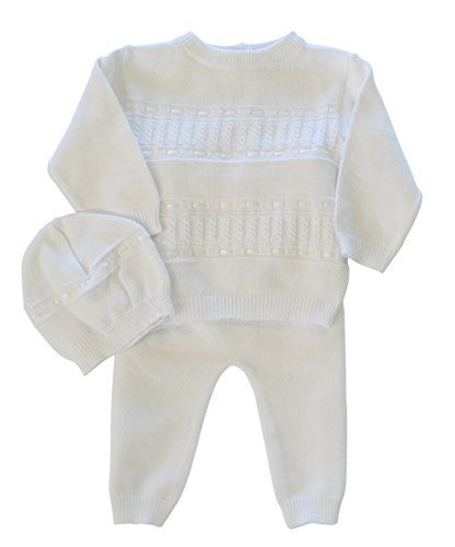 Boutique Collection Baby Boys' 2 Piece Knit Christening Bris Outfit