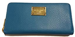 Michael Kors ZA Continental Summer Blue Leather Clutch Wallet