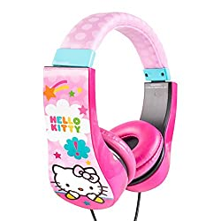 Hello Kitty Kid Safe Over the Ear Headphone w/ Volume Limiter (30309)