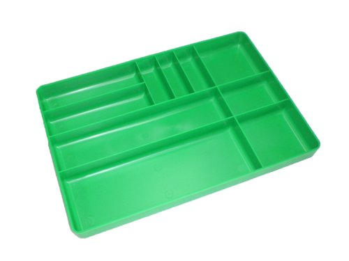 Protoco 6040  Tool Box Organization  Plastic  Tray with 10 Compartment, 16-Inch x 11-Inch x 1.5-Inch, Green (Toolbox Green compare prices)