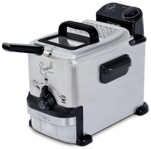 Emeril by T-fal FR702D001 1.8-Liter Deep Fryer with Integrated Oil Filtration System, Silver