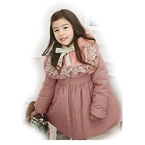 Dopobo Encaje,cuello de peluche de chaqueta con capucha para niñas - BebeHogar.com