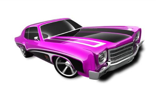 Hot Wheels - '70 Monte Carlo (Purple w/Black Stripes) - Muscle Mania, GM '12 - 7/10 ~107/247 [Scale 1:64] - 1
