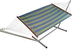 Hangit Extra Wide Canvas Hammocks Swings for Garden